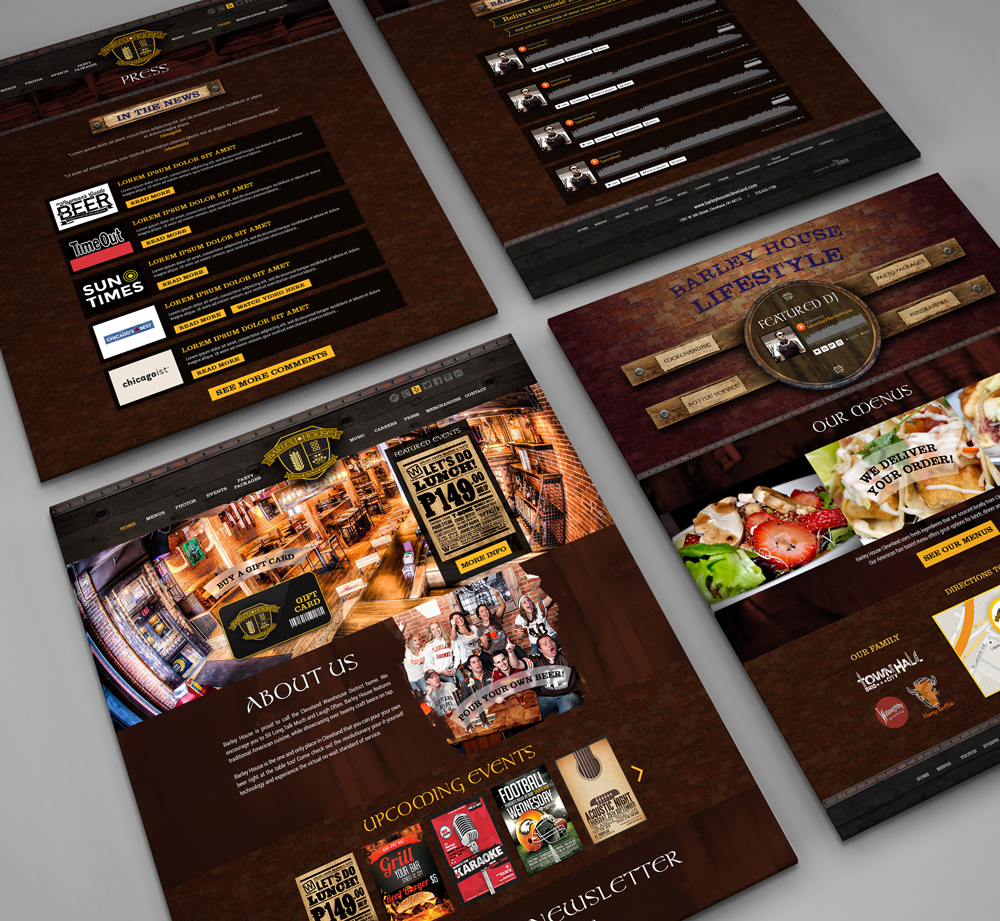 Web Design & Development For Barley House Cleveland - YourPortal