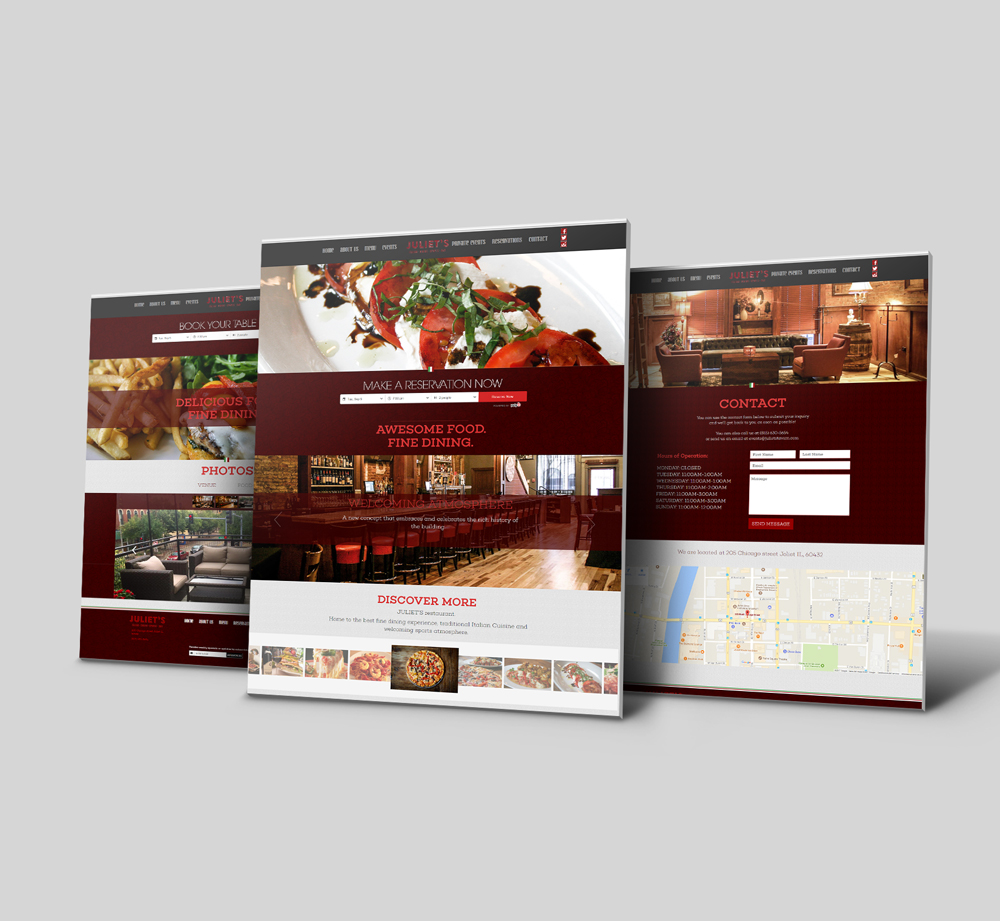 Web Design & Development For Italian Restaurant in Chicago - YourPortal