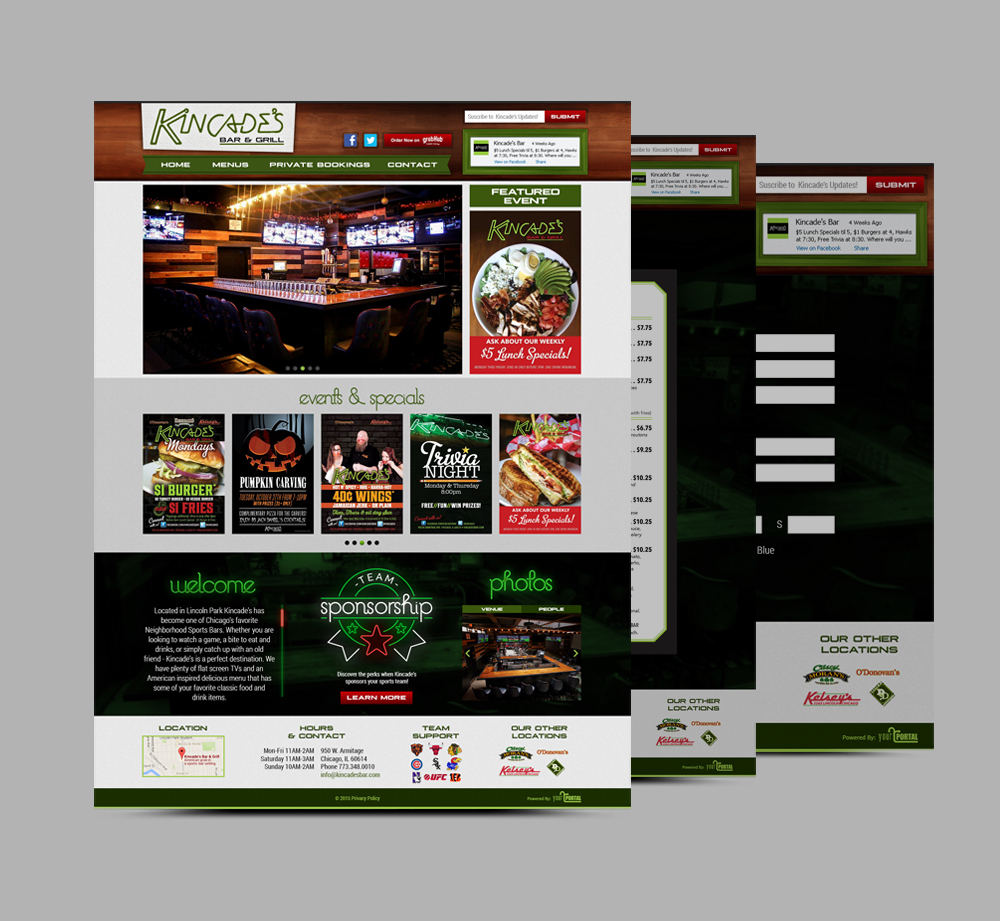 Web Design & Development For Local Pub in Chicago - YourPortal