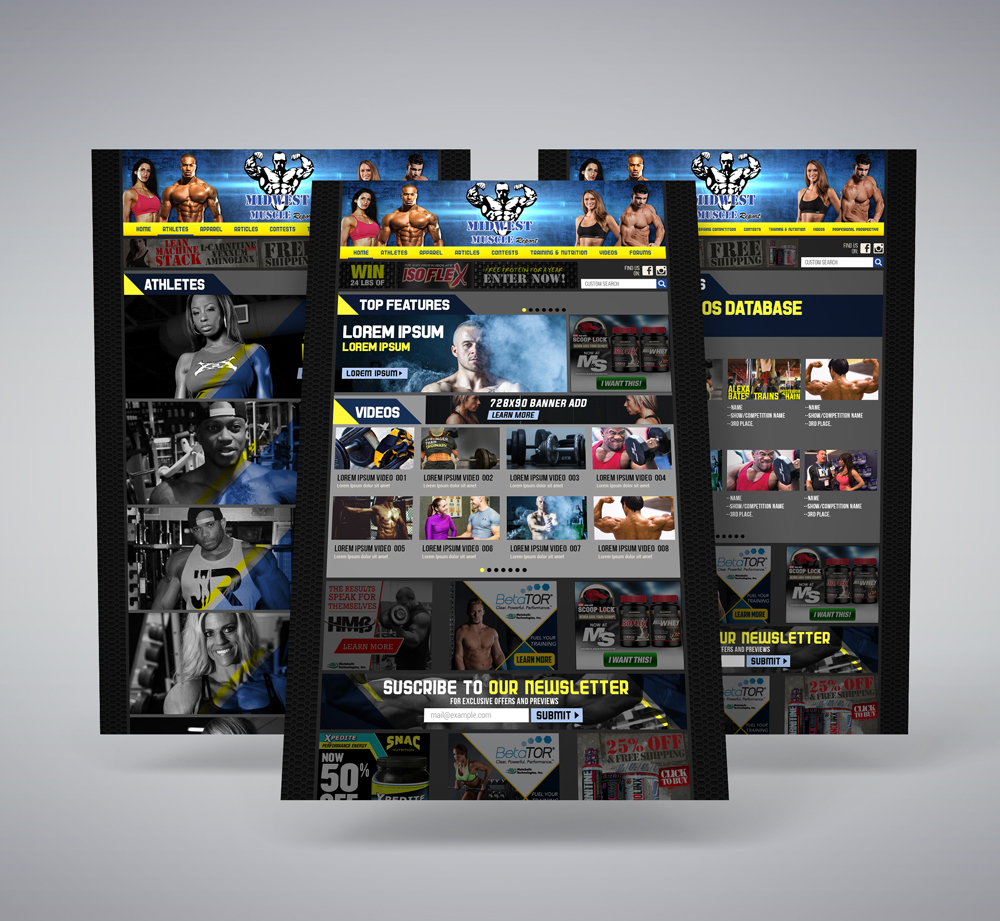 Web Design & Development For Bodybuilding Blog - YourPortal
