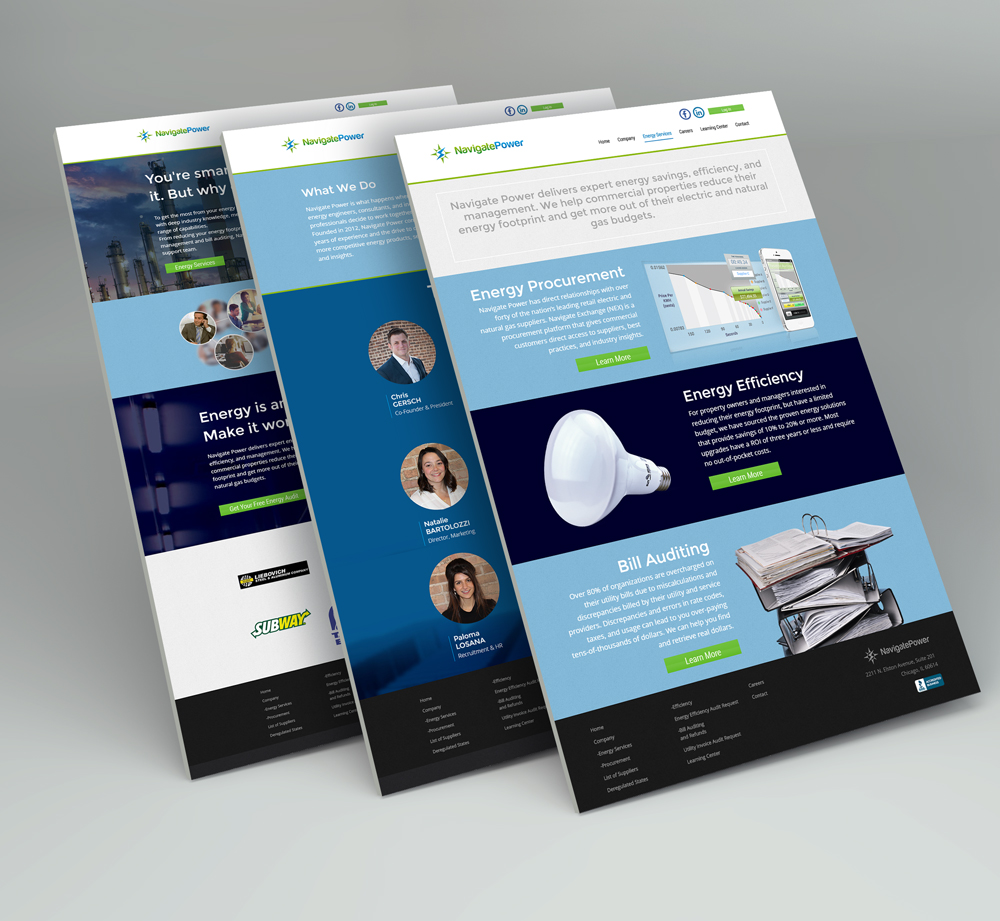 Web Design for Electricity & Natural Gas Consulting Firm - Your Portal