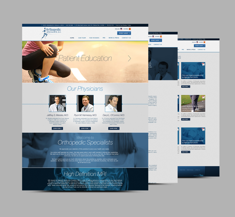 Web Design & Development for Orthopedic Specialists - YourPortal