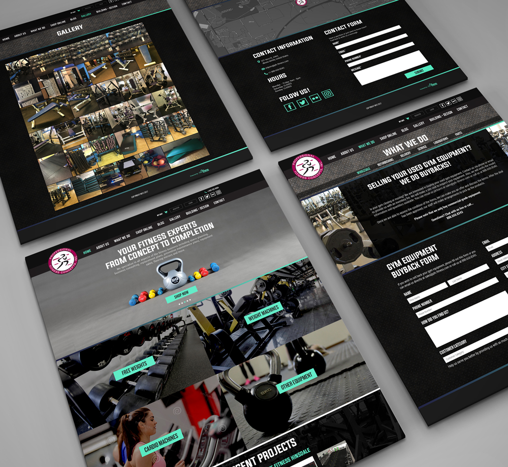 Web Design & Development for Fitness Equipment Company - YourPortal