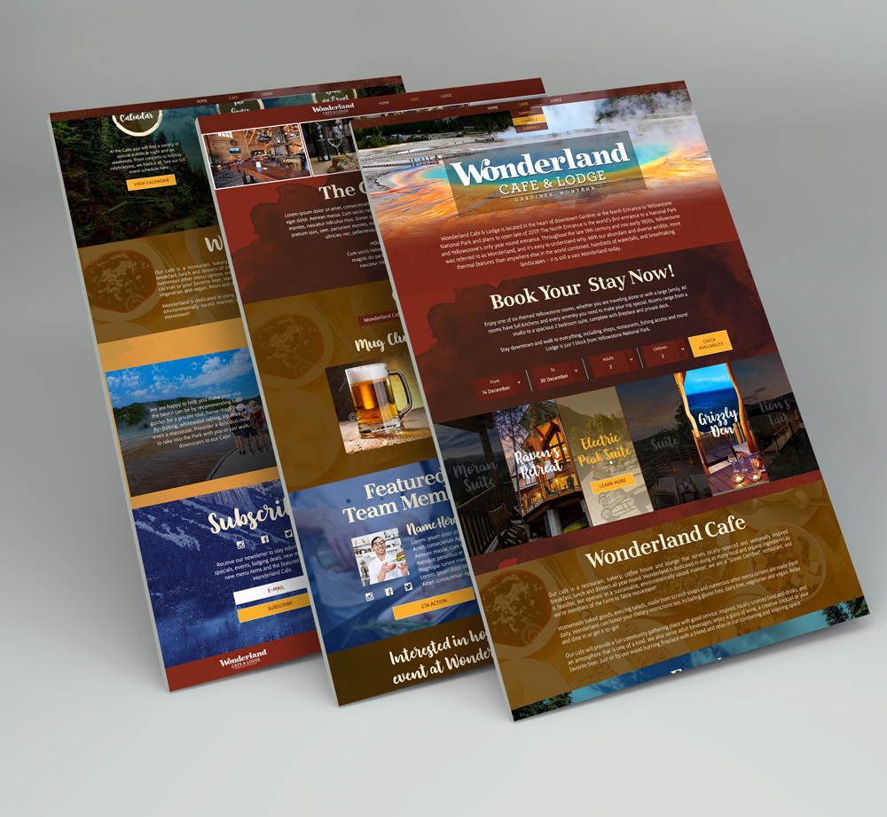 Website Design & Development for wonderland Cafe & Lodge - YourPortal